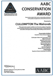 AABC Conservation Award - Cullompton The Walronds