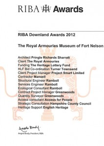 RIBA Downland Awards 2014 - The Royal Armouries of Fort Nelson